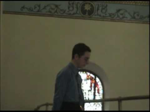 "James Corcoran sings ""Ave Maria""."