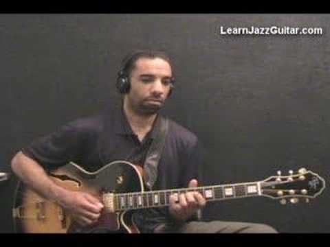 Learn How to Play Jazz Guitar - 251 Lick - Key of C