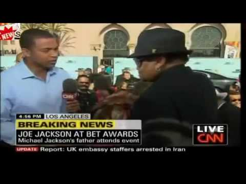 Joe Jackson BET Awards 2009 CNN Interview - arrogant and self serving