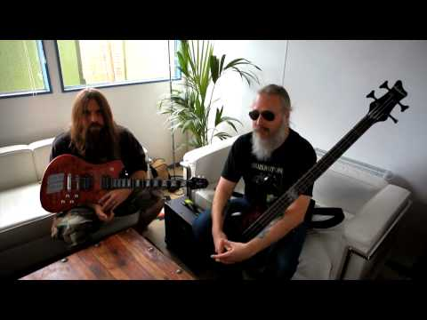 Jackson� at Download 2010 with Lamb of God`s Mark Morton & John Campbell