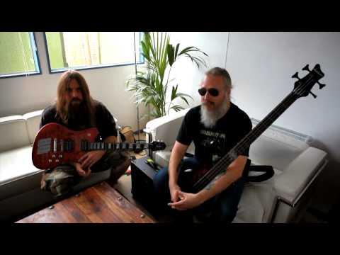 Jackson� at Download 2010 with Lamb of God`s Mark Morton & John Campbell
