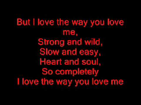 john michael montgomery - i love the way you love me lyrics !!!!