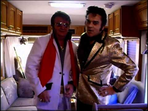 2 Elvis` Levi Silver and Rene` Davis ETAs Backstage Elvis Fest 2011