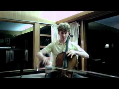 POPPER PROJECT #28: Joshua Roman plays Etude no. 28 for cello by David Popper (leaping left hand)