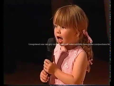 Connie Talbot over the rainbow 2004 age 3