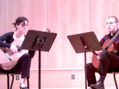 Towson university classical guitar ensemble- Ida Mehrnoush and Eric McCullough