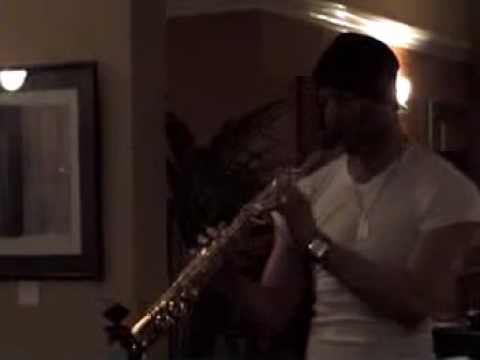 Julian Smith playing sax at Pete`s Indian Restaurant, Worcester