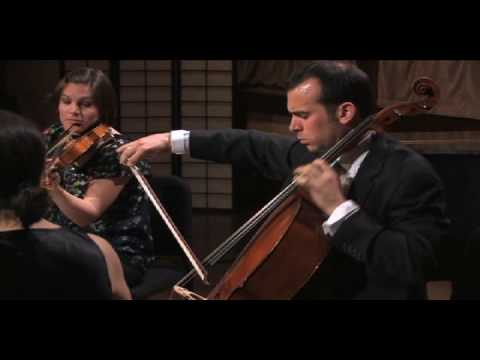 Jupiter Quartet plays Mendelssohn op. 80, mvmt 1