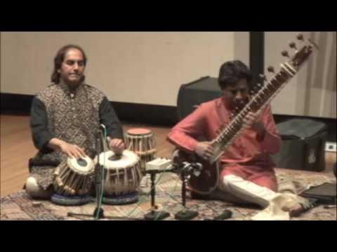 Kartik Seshadri Gat composition - Raga Hamsadhwani (1 of 2) - Arup Chattopadhyay, tabla)