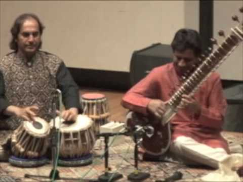 Kartik Seshadri - Raga Hamsadhwani clip - finale (2 of 2) - with arup chattopadhyay, tabla