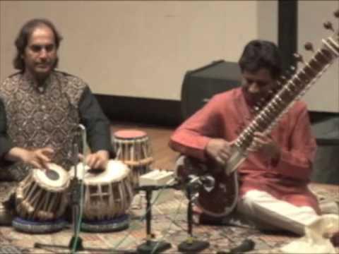 Kartik Seshadri - Raga Hamsadhwani clip - finale (2 of 2) - with arup chattopadhyay, tabla