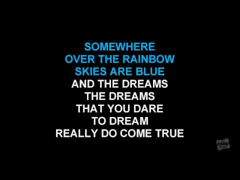 Somewhere Over The Rainbow (Radio Version) in the style of Katharine McPhee