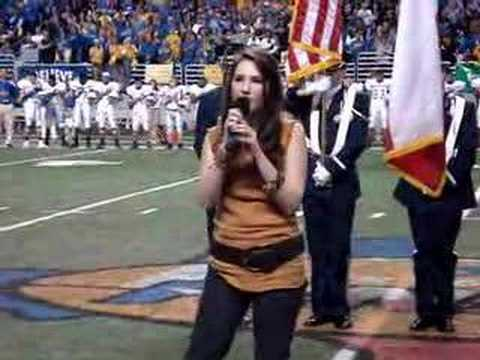 Katie Armiger Sings National Anthem