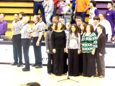 VJE singing the National Anthem