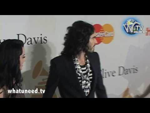 Katy Perry and Russell Brand arrive at Clive Davis 2010 Pre Grammy Gala