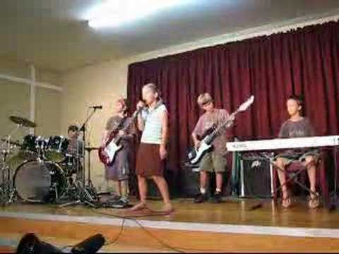 Garage Rockers age 9 & 10 rock band play Life is a Highway