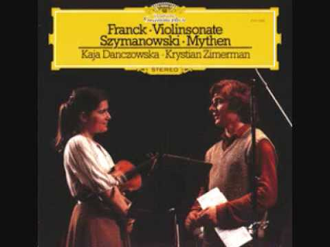 Krystian Zimerman - Kaja Danczowska: Franck violin sonata 4th movement