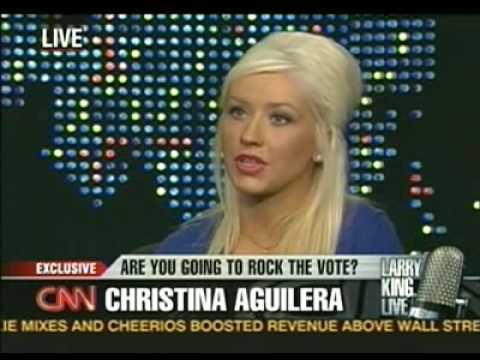 Christina Aguilera on Larry King part 1