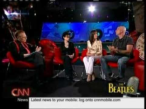 Paul Ringo Yoko & Olivia on Larry King 2/7