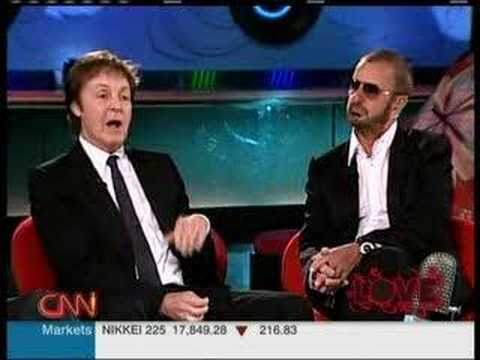 Paul Ringo Yoko & Olivia on Larry King 3/7