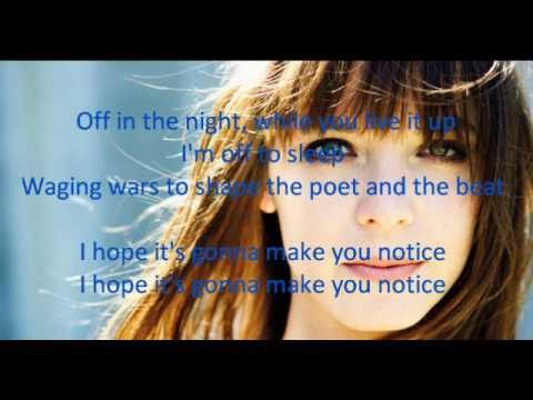 Laura Jansen - Use Somebody (lyrics)