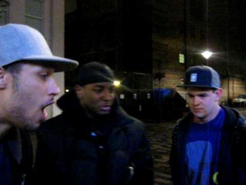KingPin, Kay M and Dirty Mac Freestylin Outside Bar Vinyl, Camden, London