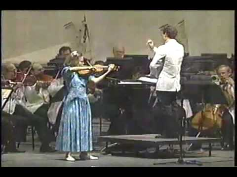 1990 | Leila Josefowicz | Vieuxtemps Violin Concerto # 5 | 12 Years Old | LA Philharmonic | 1 of 3
