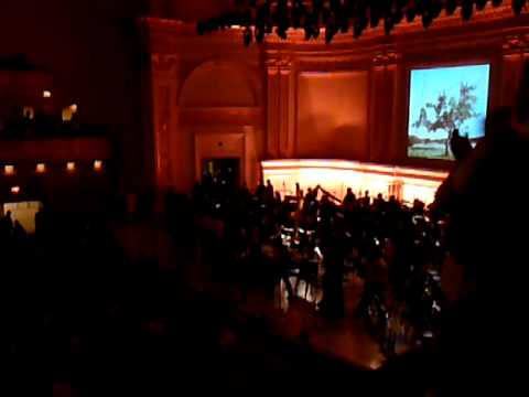 Kristina curtain call encore second night 24/9/09 Carnegie Hall