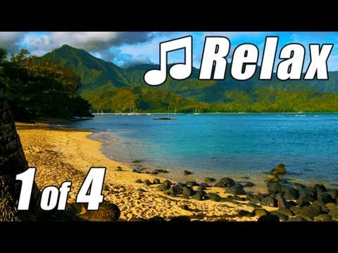 HAWAIIAN MUSIC #1 HD KAUAI BEACHES Most Relaxing Instrumental Hawaii Songs Musik ever ocean Luau