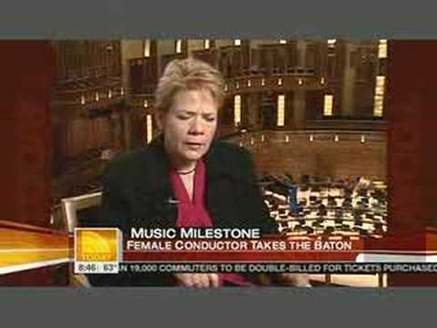 Marin Alsop on NBC`s Today Show, October 10th 2007