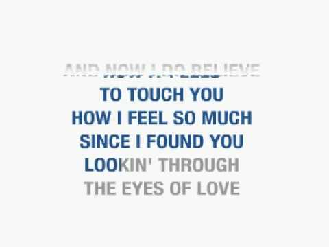 THROUGH THE EYES OF LOVE - MELISSA MANCHESTER