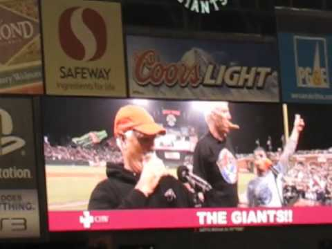 Billy, Mickey & Bill`s Kazoo Band, Take Me Out To The Ballgame, AT&T Park SF 8-9-10