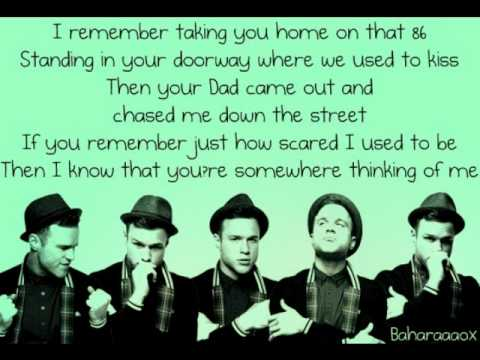 Olly Murs - Thinking of me Lyrics NEW SINGLE 2010