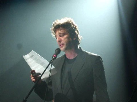 Neil Gaiman, reading a eulogy for Amanda Palmer
