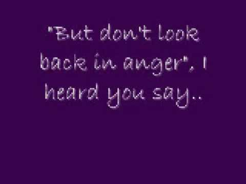 Don`t Look Back In Anger lyrics + download link