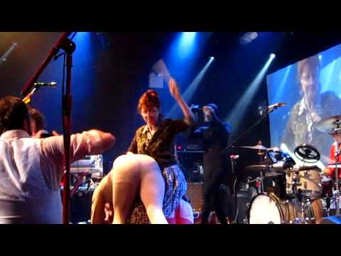 Susan Sarandon spanking pigs at Of Montreal Concert NYC Highline Ballroom