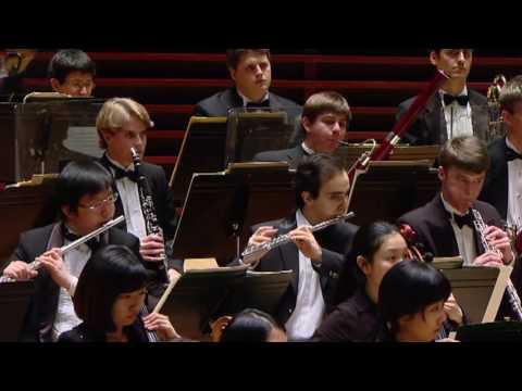 Curtis Symphony Orchestra led by Christoph Eschenbach in Dvorak`s Symphony No. 9