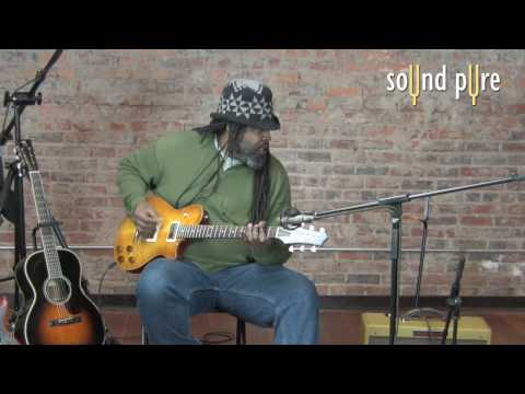 Alvin Youngblood Hart plays a McInturff Carolina Standard Lemon Burst