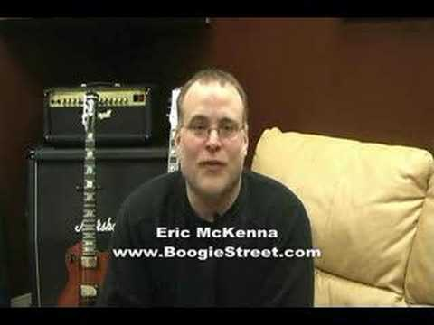 Eric McKenna of Boogie Street and Paul Stanley KISS guitars