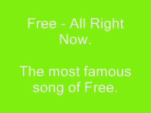Free - All Right Now (Studio Version)