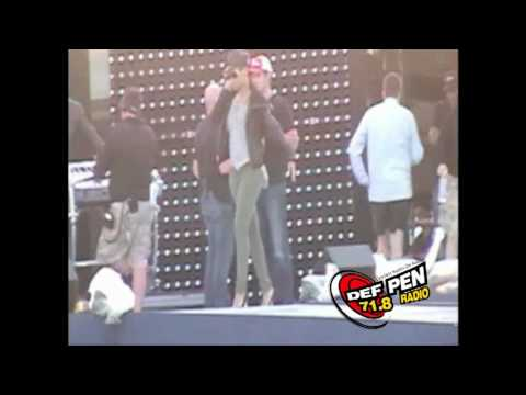 DEF PEN RADIO 71.8 Rihanna Rehearsing For Pepsi Super Bowl Fan Jam Concert *FOOTAGE*