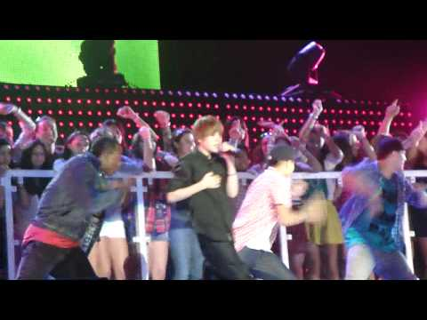 "Justin Bieber Pepsi Super Bowl Fan Jam ""One Time"" Part 1"