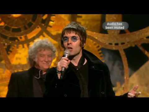 Liam Gallagher at the 2010 Brit Awards