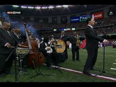 National Anthem at 2008 BCS Championship