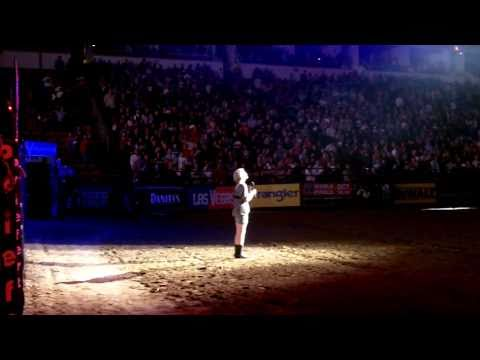 Alexis Garriott - National Anthem - Professional Bull Riders 2011