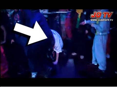 LMAO!! Rapper Professor Green Falls Off Stage During MC Battle