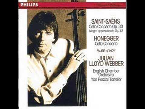 British cellist Lloyd Webber plays Saint Saens Concerto