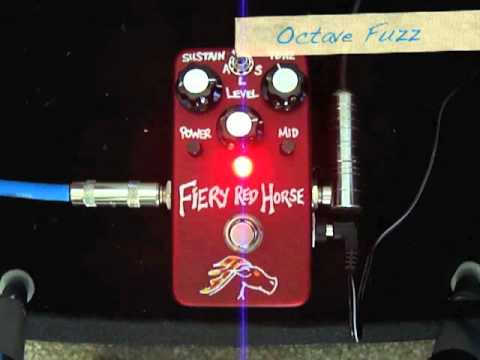 VFE Pedals Fiery Red Horse = Versatile Fuzz based on Triangle Big Muff