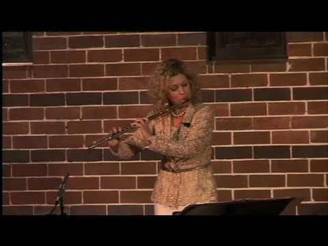 Jane Rutter plays flute solo Spirit of the Earth