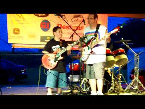 "9 Yr. Old Reese & ROX Electric Cover of Robin Trower`s ""Too Rolling Stoned"""